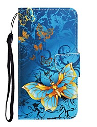 cheap -Case For Huawei P40 Lite/Nova 7SE/Y9 Prime 2019 Wallet / Card Holder / with Stand Full Body Cases Butterfly PU Leather For Huawei P Smart Z/P20 Lite 2019/Nova 7 Pro/Honor V30/Play 3