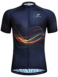 cheap -JESOCYCLING Men's Women's Short Sleeve Cycling Jersey Black Stripes Plus Size Bike Jersey Top Mountain Bike MTB Road Bike Cycling Breathable Quick Dry Ultraviolet Resistant Sports Clothing Apparel