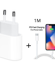 cheap -18W USB Type C Quick Charger Adapter For iPhone 11 pro Xs Max X Xr 8 Plus 8 7 6 5 PD Fast Charging Power Type-C EU Plug for Apple Cable