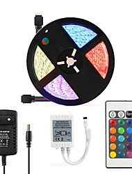cheap -5M 16.4ft LED Light Strips RGB Tiktok Lights SMD5050 300leds Not Waterproof 10mm Strips Lighting Flexible Color Changing with 24 Key IR Remote Ideal for Home Kitchen Christmas TV Back Lights DC 12V