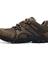 cheap -Men's Mesh Spring & Summer Athletic Shoes Hiking Shoes Non-slipping Yellow / Brown / Gray