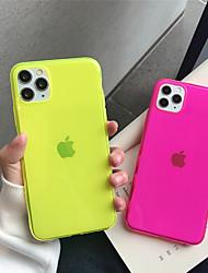 Недорогие -чехол для apple iphone 11 11pro 11 pro max четырехцветный флуоресцентный сплошной цвет тпу материал устойчивый к царапинам чехол для мобильного телефона