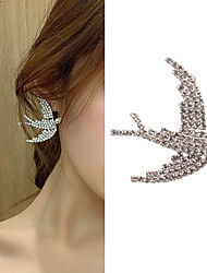 cheap -Women's Stud Earrings Classic Bird Love Classic Vintage Imitation Diamond Earrings Jewelry Silver For Gift Daily 1 Pair