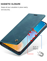 cheap -CaseMe New Retro Leather Magnetic Flip Case For Huawei P40 / P40 Pro / P40 Lite With Wallet Card Slot Stand Case Cover
