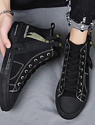 cheap -Men's Canvas Spring Casual Sneakers Black / White / White / Black