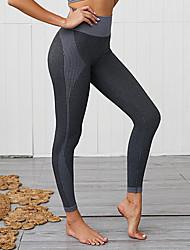 cheap -Women's High Waist Yoga Pants Seamless Leggings Tummy Control Butt Lift Quick Dry Dark Grey Red Light Grey Fitness Gym Workout Running Sports Activewear High Elasticity Skinny