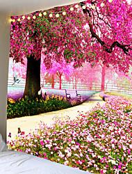 Недорогие -красивый красный большое дерево напечатаны большие гобелены дешевые хиппи на стене богемные гобелены мандала стены искусства декора