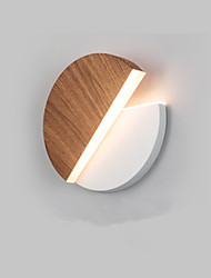 cheap -Modern Living Room Lamp Bedroom Bedside Lamp Corridor Hotel Round Rotatable Wall Lamp 10w