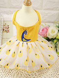 cheap -Dog Dress Dog Clothes Yellow Red Pink Costume Husky Golden Retriever Dalmatian Cotton Animal Party / Evening Stylish XS S M L XL