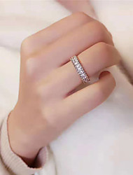 cheap -Synthetic Diamond Ring Silver For Women's Stylish Antique Simple Luxury Wedding Party Evening Formal High Quality Classic