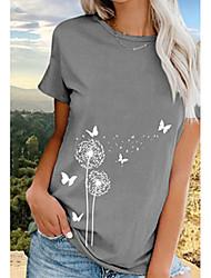 cheap -Women's Geometric Print T-shirt - Cotton Daily Black / Blue / Gray