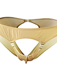 cheap -Men's Cut Out Briefs Underwear - Normal Low Waist Khaki One-Size