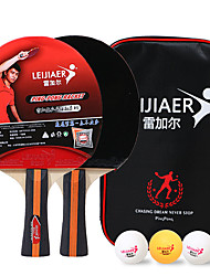 cheap -Ping Pong Paddles Indoor Table Tennis Wearproof Durable 1 set 2 * Ping Pong Paddles 3 *Ping Pong Balls Sports