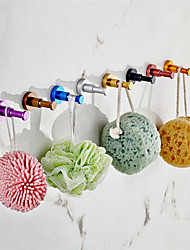 cheap -Colorful Robe Hooks Bathroom Accessories Cylindrical Clothes Hook Rack for Kitchenware House Round Hook 10 pieces Hooks Mixed Random Color