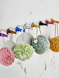 Недорогие -красочные халаты крючки аксессуары для ванной комнаты цилиндрические крючки для одежды для посуды дом круглый крючок 10 шт. крючки смешанные случайный цвет