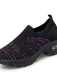 cheap -Women's Trainers / Athletic Shoes Flat Heel Round Toe Knit / Elastic Fabric Sporty / Sweet Running Shoes Spring & Summer Purple / Black / Gray