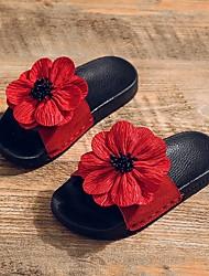 Недорогие -Девочки Удобная обувь ПВХ Сандалии Маленькие дети (4-7 лет) Черный / Красный / Розовый Лето