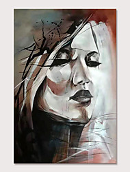 cheap -Mintura Large Size Hand Painted Abstract Girl Oil Paintings on Canvas Pop Art Wall Pictures For Home Decoration No Framed