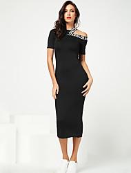 Недорогие -женская футболка платье лоскутное с коротким рукавом простое платье