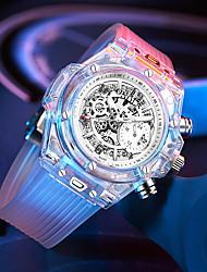 Недорогие -Муж. Нарядные часы Кварцевый силиконовый 30 m Защита от влаги Календарь Секундомер Аналоговый Мода Cool - Белый + Silver Белый Черный Один год Срок службы батареи