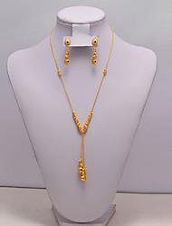 levne -Dámské Sady šperků Klasické Střapec Moderní Geleneksel Módní Pozlacené Náušnice Šperky Zlatá Pro Vánoce Svatební Dar Street Festival 1 sada