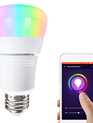 cheap -1pc 12 W LED Globe Bulbs LED Smart Bulbs 700 lm E14 B22 E26 / E27 21 LED Beads APP Control Smart Timing Multi-colors 85-265 V / Dimmable