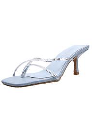 cheap -Women's Heels 2020 Kitten Heel Open Toe PU Sweet / Minimalism Spring &  Fall / Spring & Summer Almond / Blue / Beige / Wedding / Party & Evening