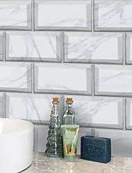 Недорогие -20x10cmx9pcs белые мраморные наклейки на стены ретро маслостойкие водонепроницаемые плитки обои для кухни ванная комната первый этаж украшения дома