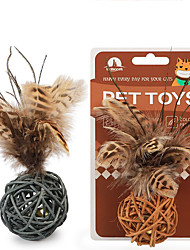 cheap -Bells Dog Cat Pet Toy Feathers Other Leather Type Gift