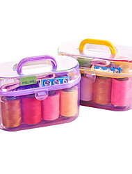 cheap -10PCS set Mini Sewing Box Portable Suit Sewing Thread Package Small Thread Box Household Sewing Manual Diy Making Sewing Kit
