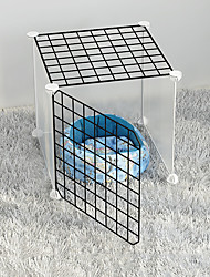 cheap -Dog Playpen Play House Fence Systems Foldable Washable Durable Free Standing Plastic Black 5 pcs