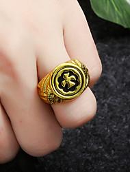 cheap -Ring Black Gold Silver Alloy Elegant Holiday European 1pc Adjustable / Women's