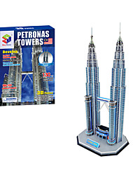 cheap -3D Puzzle Famous buildings Fun Paper 1 pcs Classic Kid's Toy Gift