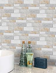 Недорогие -20x10cmx9pcs теплые мраморные наклейки на стены ретро маслостойкие водонепроницаемые плитки обои для кухни ванная комната первый этаж украшения дома