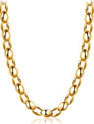cheap -Men's Chain Necklace Classic Flower Fashion Gold Plated Gold 50 cm Necklace Jewelry 1pc For