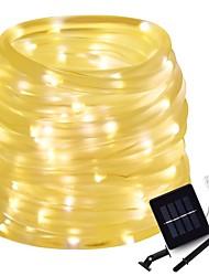 Недорогие -10 см Гирлянды 100 светодиоды 5mm 1шт Тёплый белый / Естественный белый / RGB Хэллоуин / Рождество Водонепроницаемый / Работает от солнечной энергии / Творчество 5 V