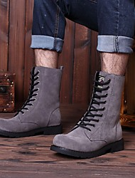 cheap -Men's Suede Fall & Winter Boots Mid-Calf Boots Yellow / Black / Gray