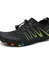 cheap -Men's Fall / Spring & Summer Sporty / Casual Daily Outdoor Trainers / Athletic Shoes Hiking Shoes / Upstream Shoes Mesh Breathable Non-slipping Shock Absorbing Black and White / Black / Green