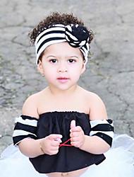 cheap -Fabric Headbands Durag Kids Bowknot Elasticity For New Baby Holiday Stylish Active Lake blue Yellow Blushing Pink