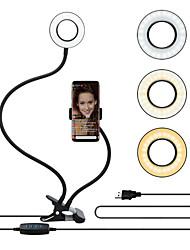 cheap -Selfie Ring Light TikTok Light Youtube Video with Flexible Mobile Phone Holder Lazy Bracket Desk Lamp LED Light for Live Stream Office Kitchen USB 1pc