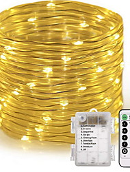 cheap -10m String Lights 150 LEDs Warm White Outdoor Decorative AA Batteries Powered