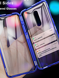 cheap -360 Double Side Magnetic Flip Tempered Glass Phone Case For OnePlus 7 Pro One Plus 6T One Plus 7T Pro OnePlus 6 Full Body Anti-Explosion Protective