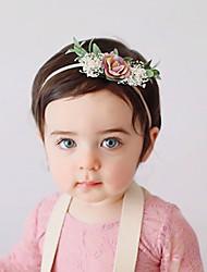 Недорогие -Ткань Хайратники Durag Для детской Цветы Бант Назначение Новорожденный Праздники Стиль Активный Цвет фуксиии розовый Розовый Темно-розовый 1 шт.