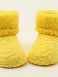 Недорогие -Дети (1-4 лет) Универсальные Однотонный Шерсть Белье / носки Желтый