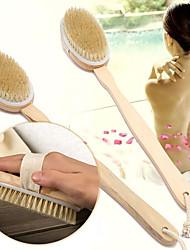 Недорогие -сухая щетка для тела натуральная щетина кабана органическая сухая кожа щетка для тела бамбук щетки для душа с мокрой спиной отшелушивающая кисточка для купания