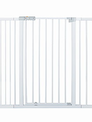 cheap -Dog Cat Pet Gate Expansion Panels Washable Durable Pressure Mounted Plastic Steel Stainless S L White 1 Piece