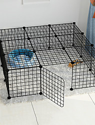 cheap -Dog Playpen Play House Fence Systems Foldable Washable Durable Free Standing Metal Black 21pcs