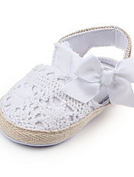 cheap -Girls' Comfort / First Walkers / Children's Day Lace Flats Embroidery Infants(0-9m) / Toddler(9m-4ys) Bowknot White / Pink Spring / Fall