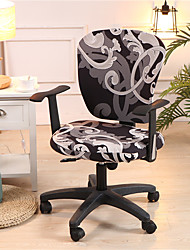 cheap -Computer Office Chair Cover Stretch Rotating Gaming Seat Slipcover  Floral/Flower Soft Durable Washable