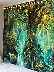 cheap -Wall Tapestry Art Decor Blanket Curtain Picnic Tablecloth Hanging Home Bedroom Living Room Dorm Decoration Fantasy Tree Forest Landscape